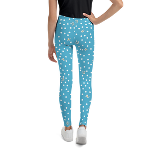 Blue Polka Dot Youth Leggings