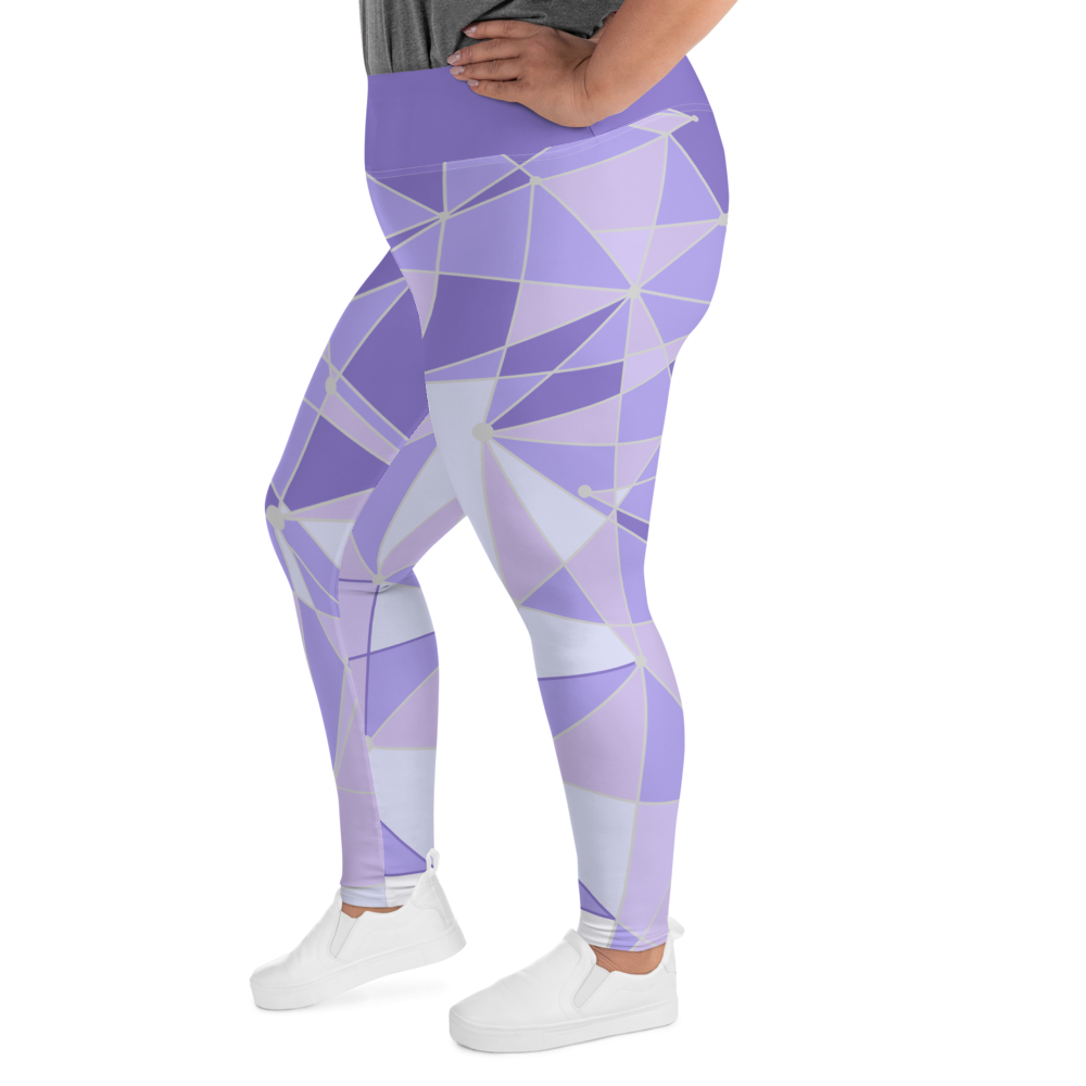 Purple Wall Plus Size Leggings