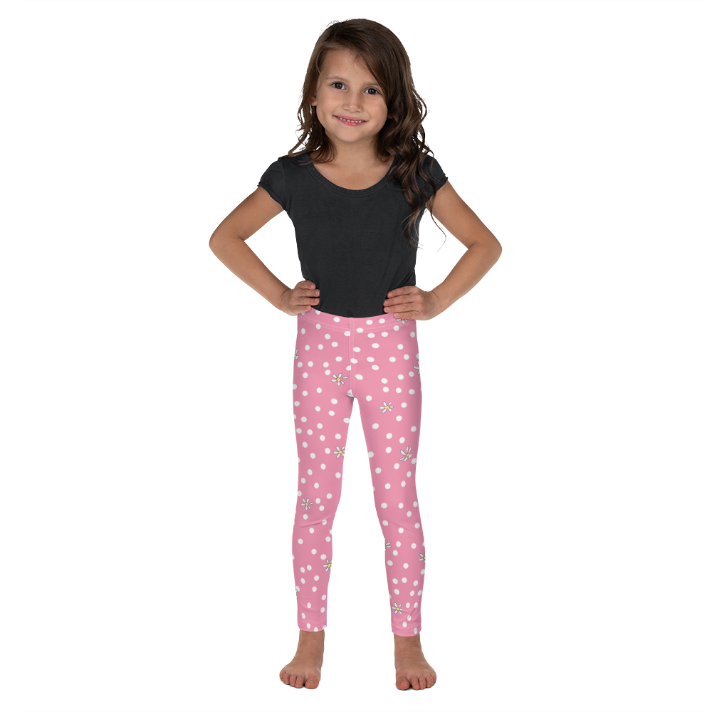 Pink Polka Dot Kid's Leggings