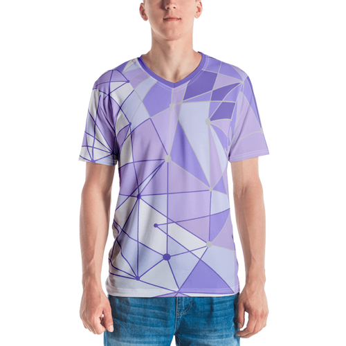Men's Purple Wall V-Neck Shirt