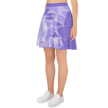 Load image into Gallery viewer, Purple Wall Skater Skirt
