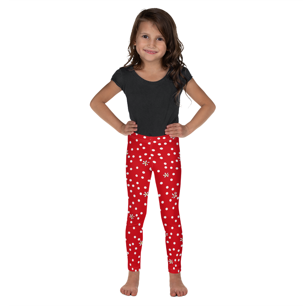 Red Polka Dot Kid's Leggings
