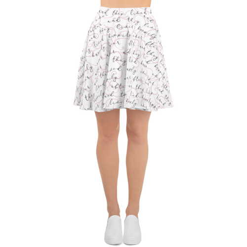 Happily Ever After Skater Skirt - Pink