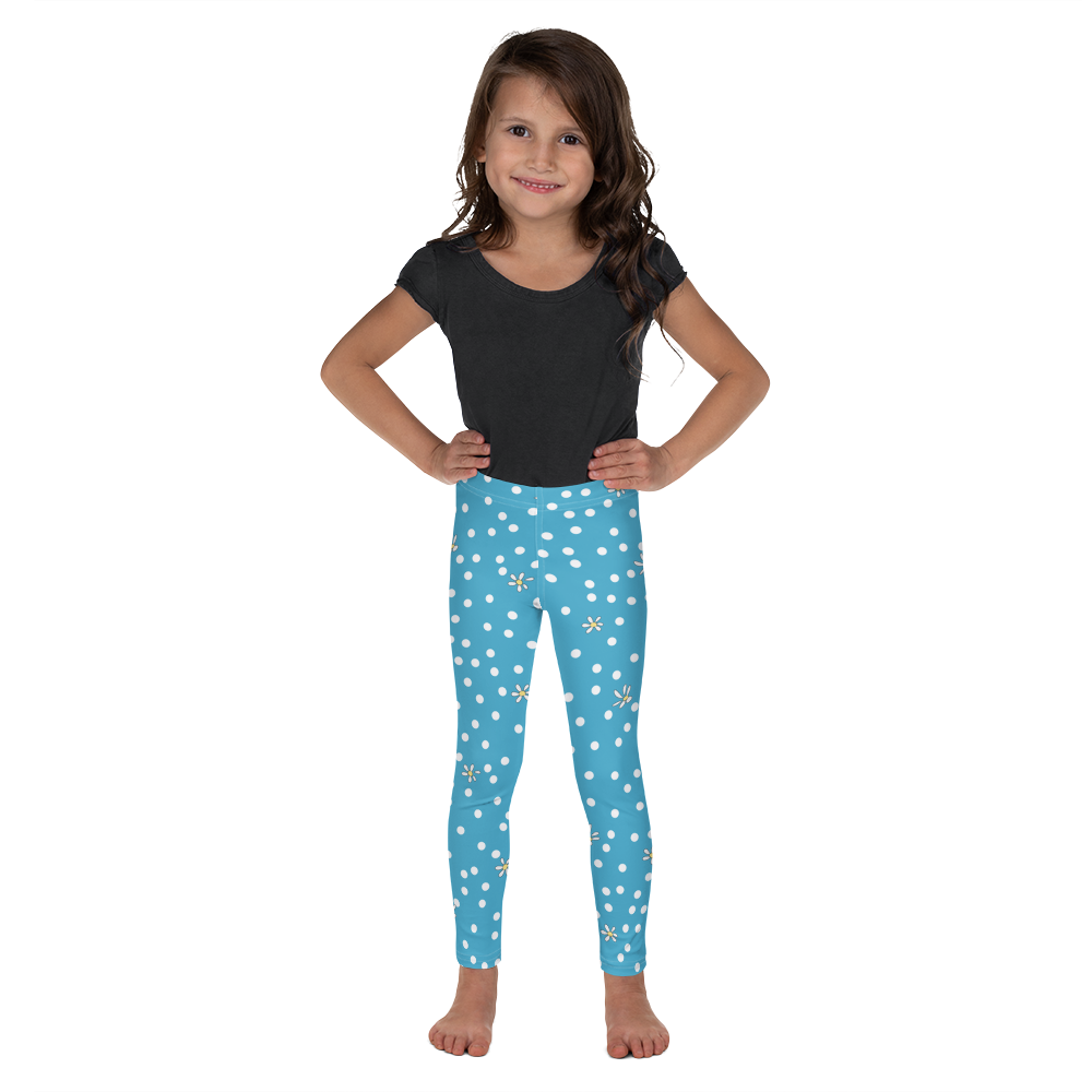 Blue Polka Dot Kid's Leggings