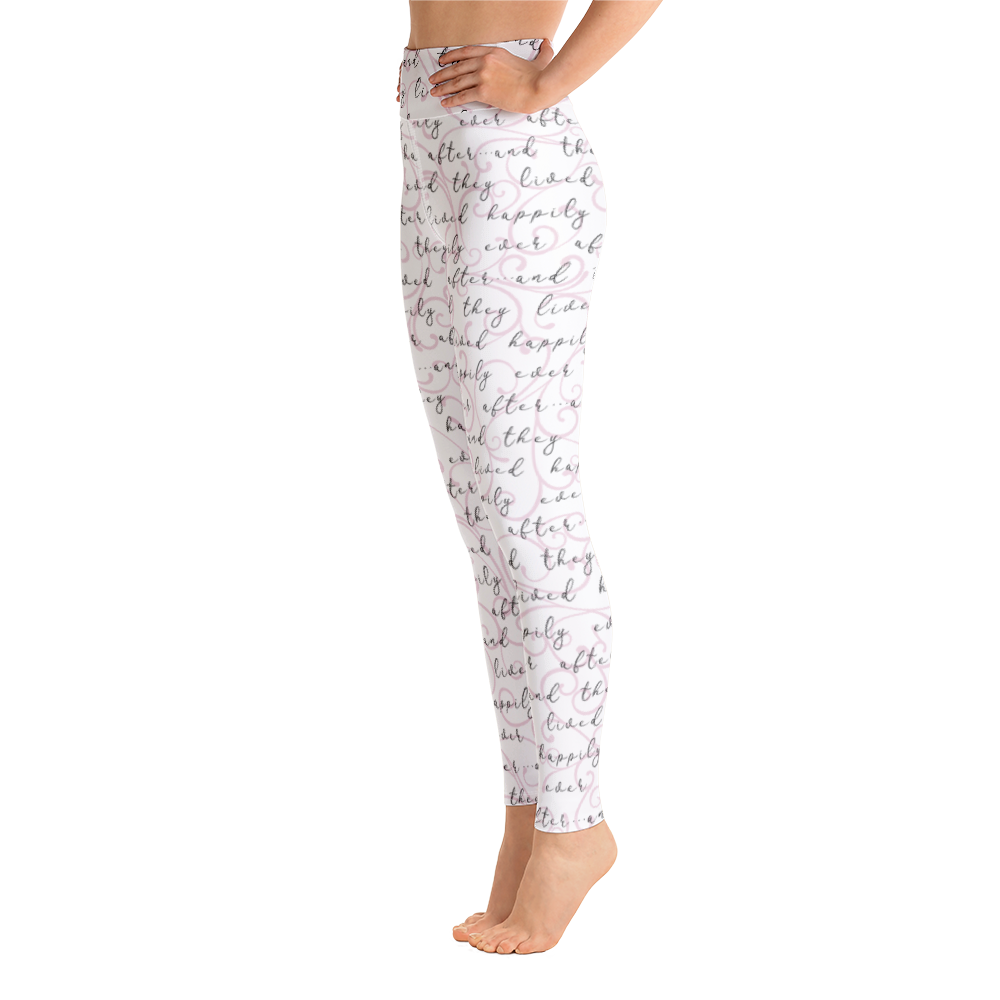 Happily Ever After Yoga Leggings - Pink