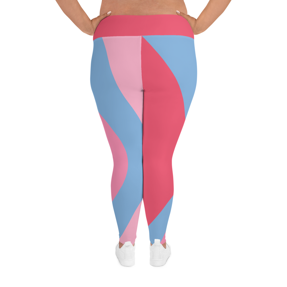 Bubble Gum Wall Plus Size Leggings