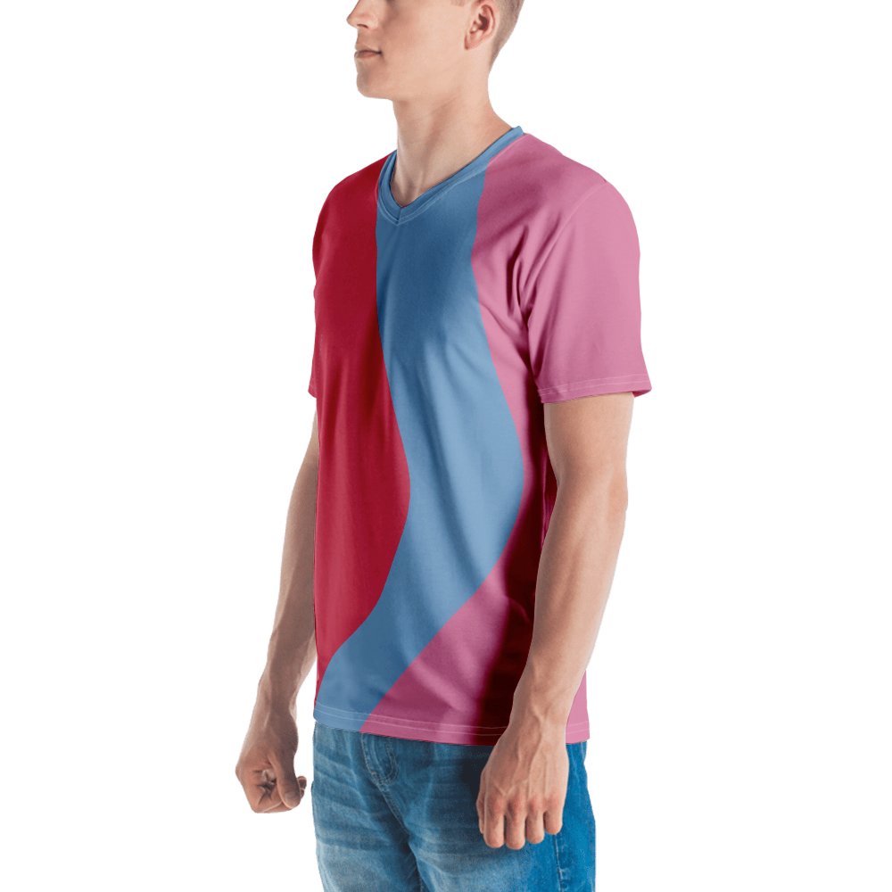 Men's Bubble Gum Wall V-Neck Shirt
