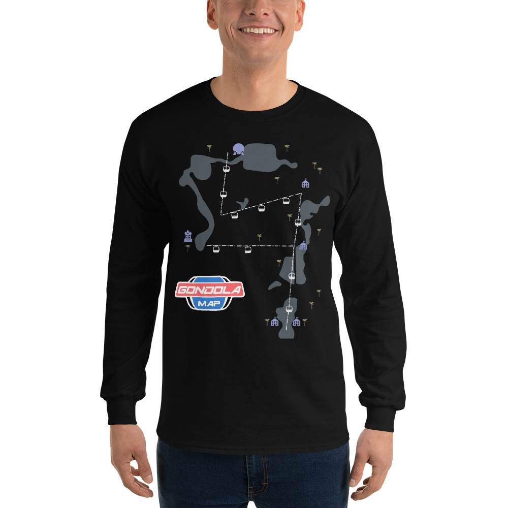 Gondola Map Long Sleeve T-Shirt