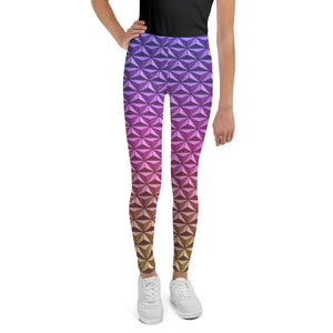 Geodesic Sphere at Night Youth Leggings