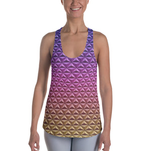 Geodesic Sphere at Night Racerback Tank