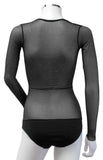 Underbust with Sleeves - Black Silver Glitter