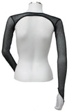 Backless Shrug with Finger Loops - Black Silver Glitter