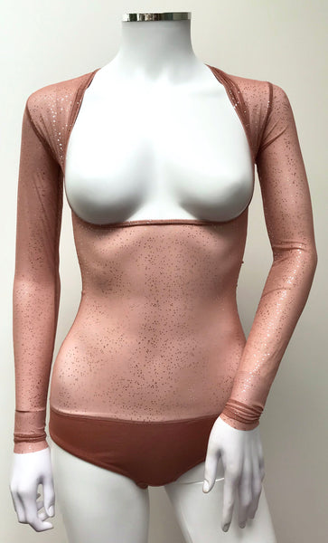 Underbust with Sleeves - Deep Blush Silver Sprinkles
