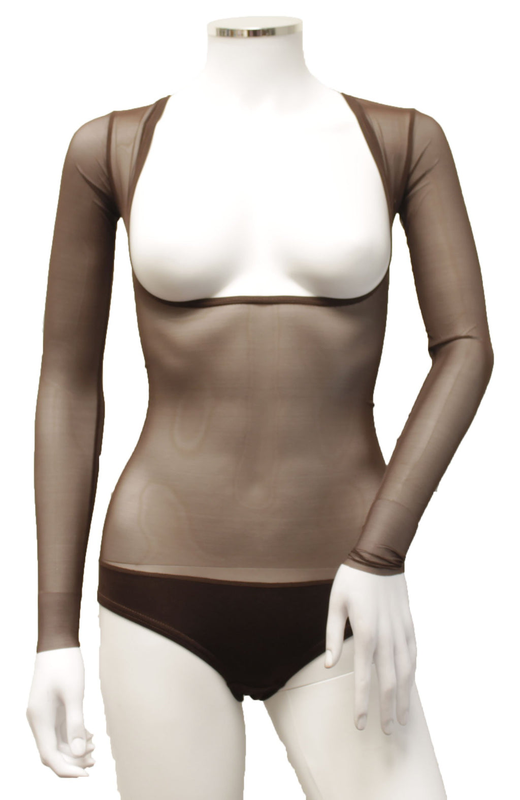 Underbust with Sleeves - Milk Chocolate