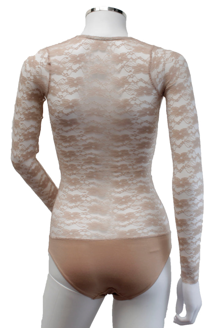 Underbust with Sleeves - Natural Lace