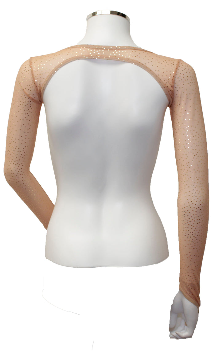 Backless Shrug - Naturelle Gold Sparkle
