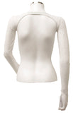 Backless Shrug - White Gold Sparkle