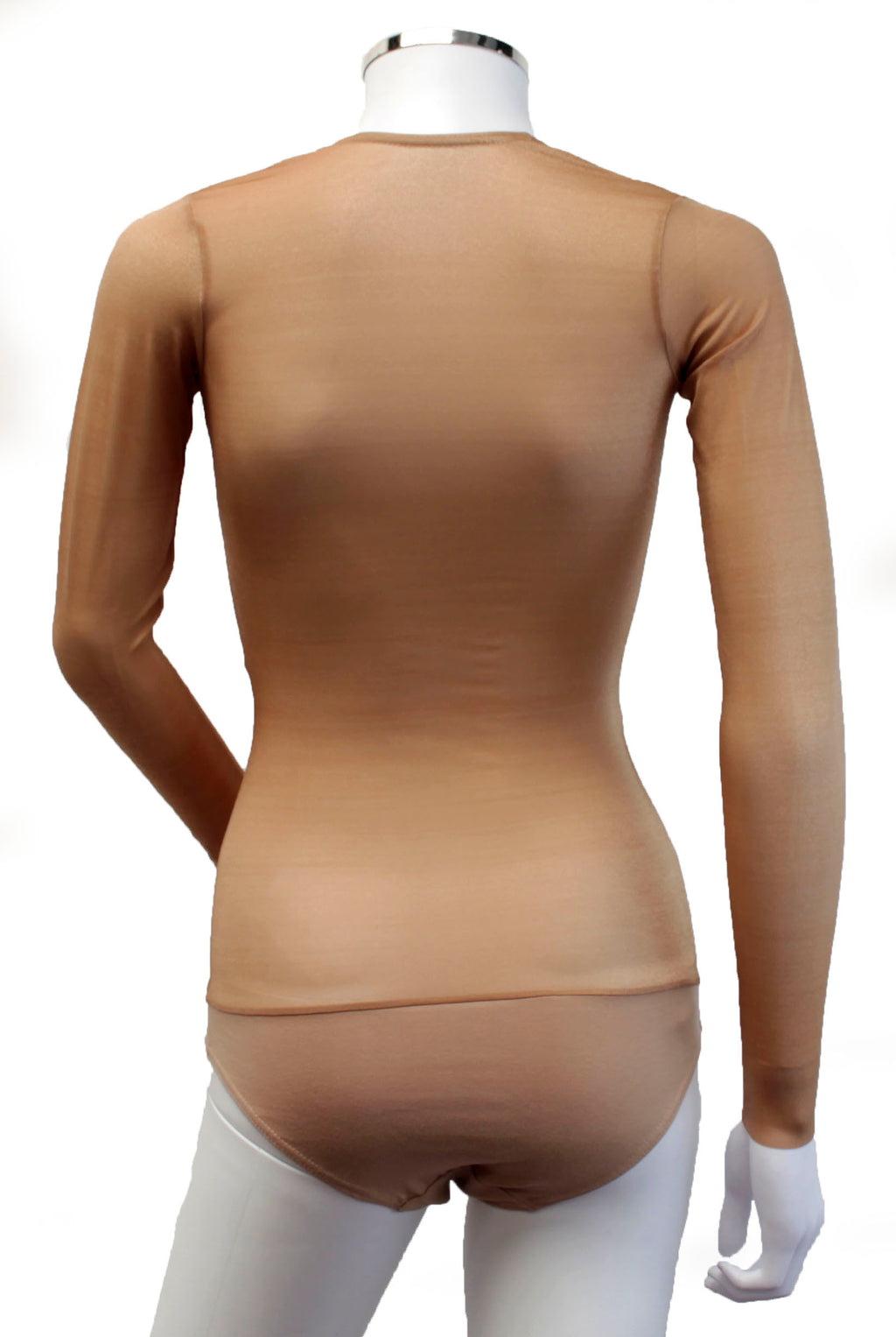 Underbust with Sleeves - Flesh Shimmer Illusion