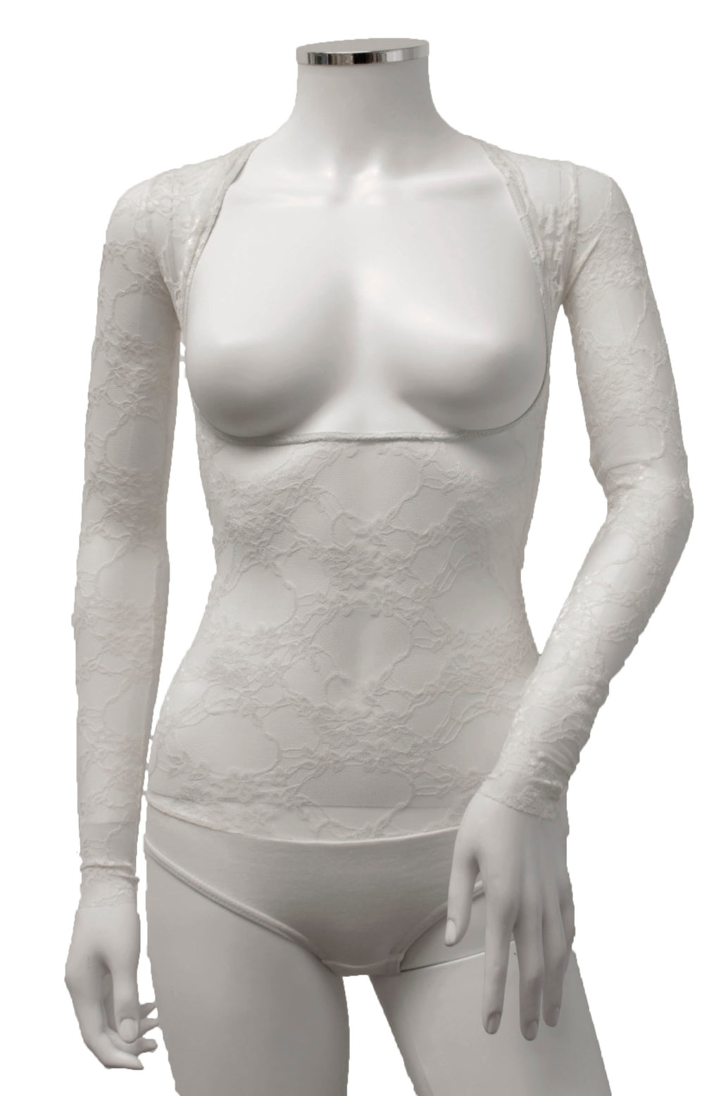Underbust with Sleeves - Ivory Lace