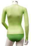 Underbust with Sleeves - Lime Green