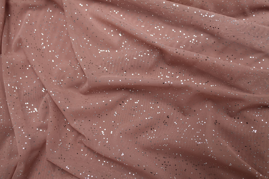 Cutaway Cover - Deep Blush with Silver Sprinkles