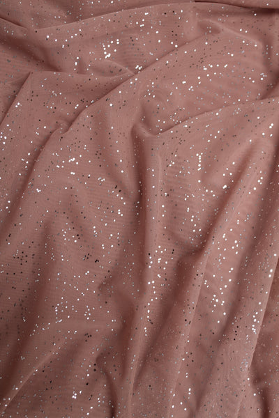 Unitard - Deep Blush with Silver Sprinkles