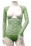 Underbust with Sleeves - Olive Lace
