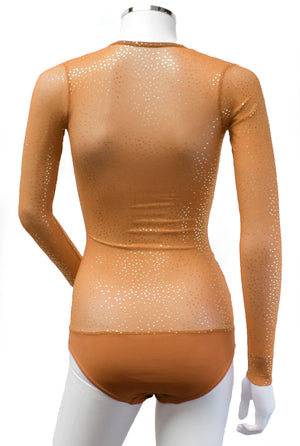 Underbust with Sleeves - Toffee Gold Sparkle