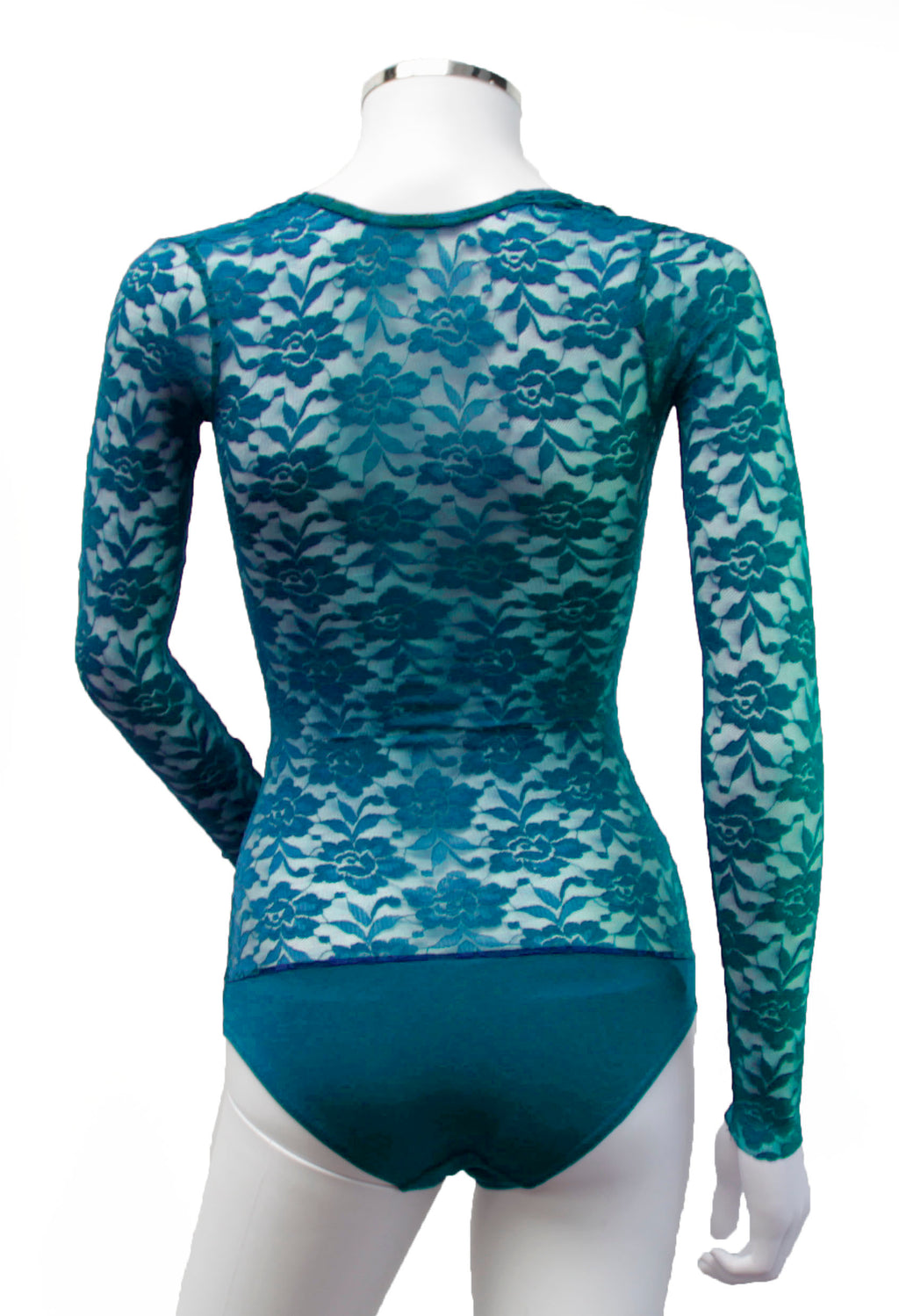 Underbust with Sleeves - Turquoise Lace