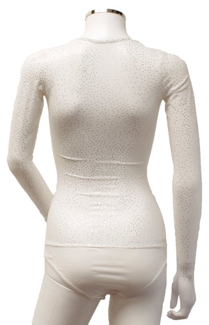 Underbust with Sleeves - White Gold Sparkles