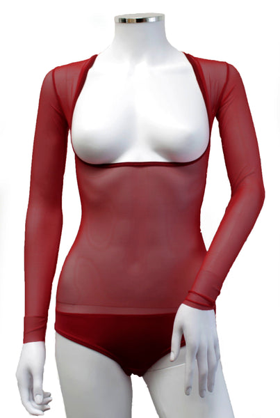 Underbust with Sleeves - Wine