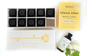 ginger lemon glassy glow beauty tonic packaging (10 pack)