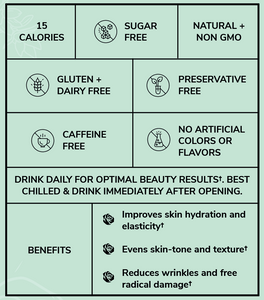directions and benefits for glassy glow beauty tonics