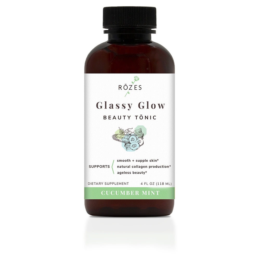 Glassy Glow Beauty Tonic Cucumber Mint Flavor - Beauty Drink for Glowing Skin