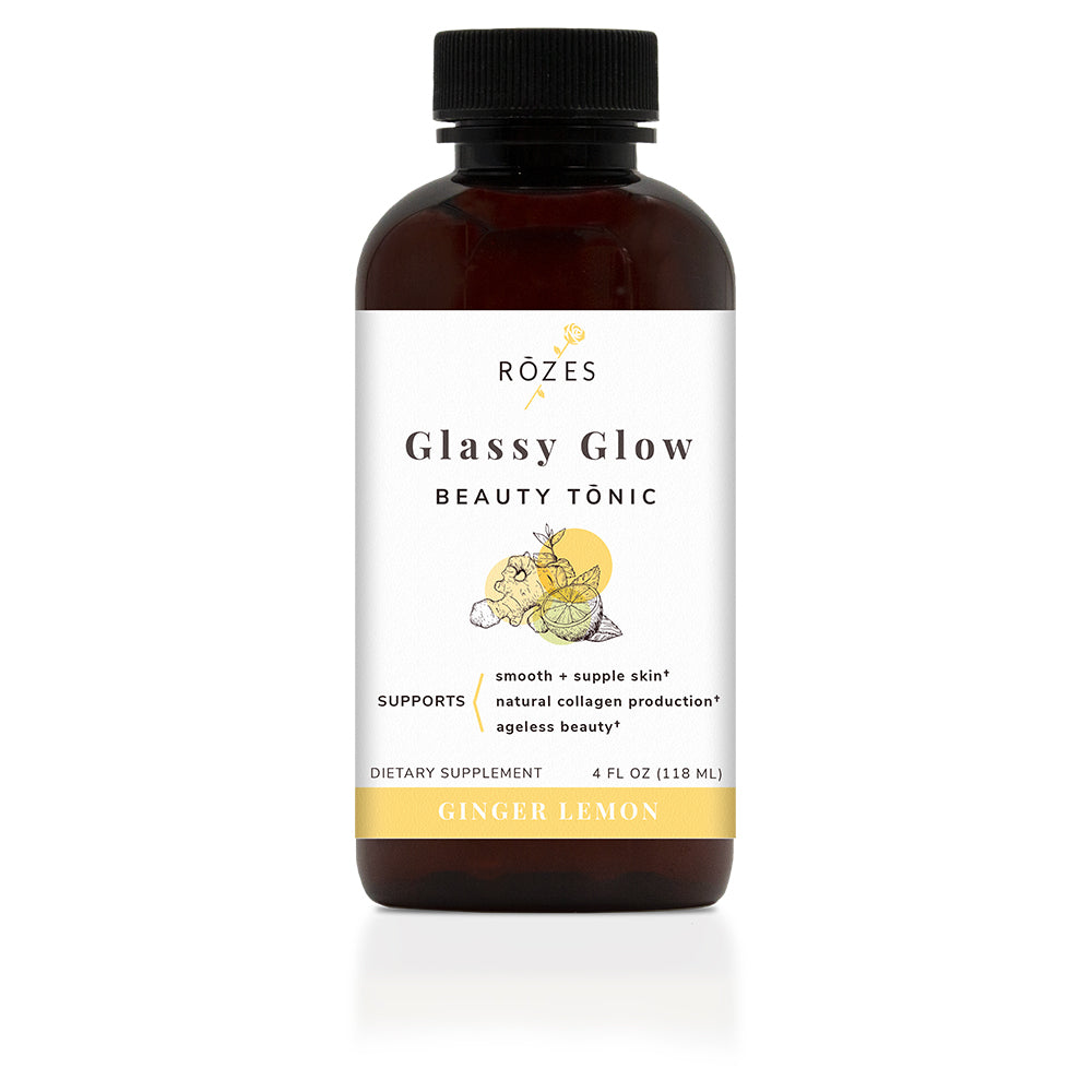 Glassy Glow Beauty Tonic Ginger Lemon Flavor - Beauty Drink for Glowing Skin