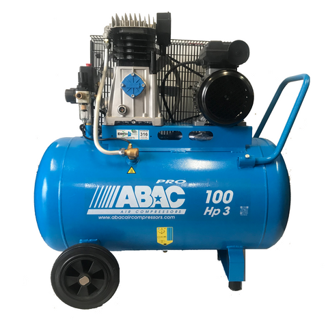 ABAC 3.0HP 100 Litre Belt Drive Air Compressor A39-100-3