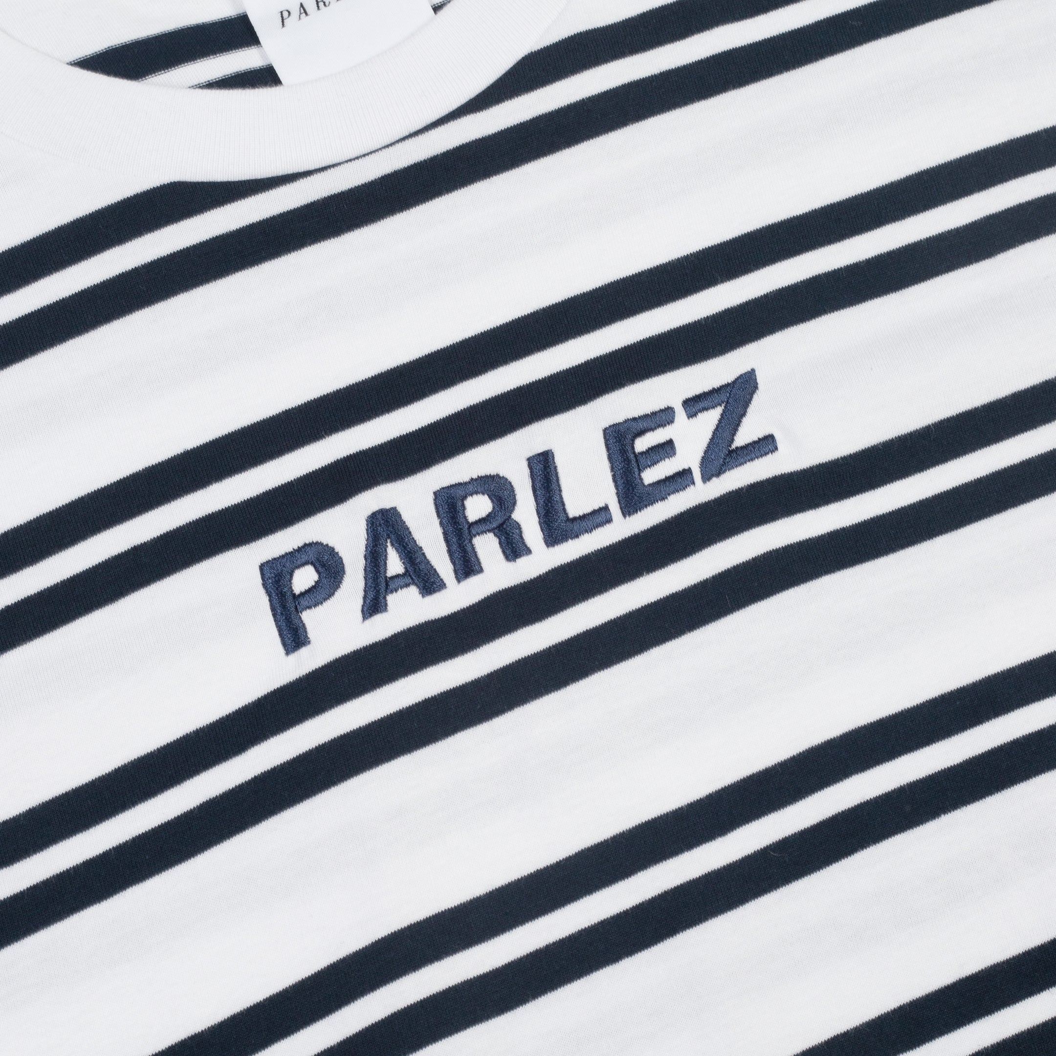 Banner T Shirt White Stripe
