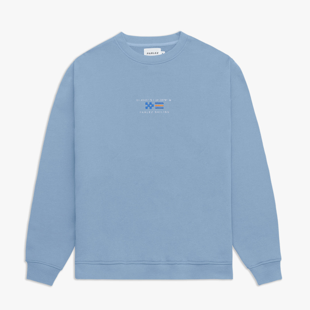 Berwick Crew Sweatshirt Dusty Blue