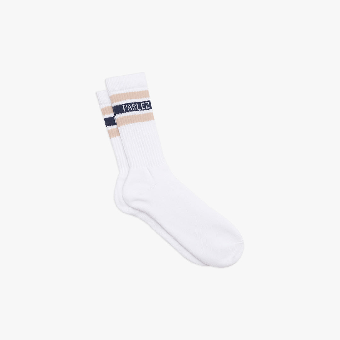 Block Socks Sand | Navy