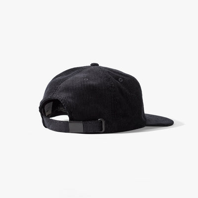 Cooke 6 Panel Cord Cap Black