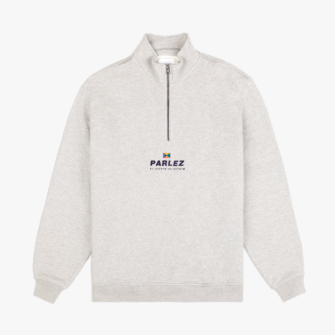 Davis Quarter Zip Heather
