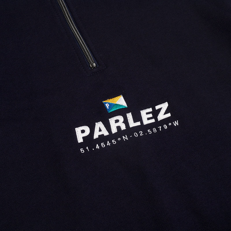 Davis Quarter Zip Navy