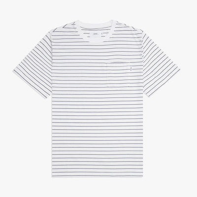 Helm Pocket T-Shirt White & Navy