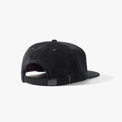 Kojo Cord 6 Panel Cap Black