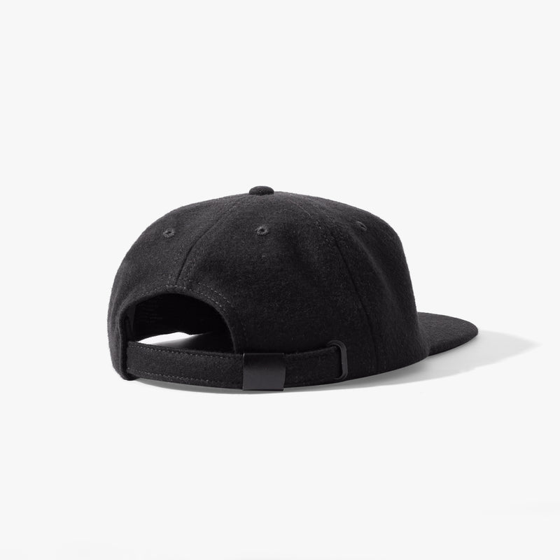 Ladsun Wool 6 Panel Cap Black