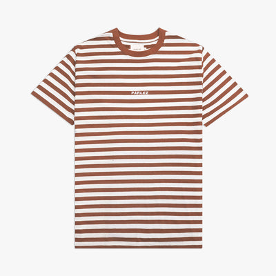 Ladsun Heavy Stripe T-Shirt Brown