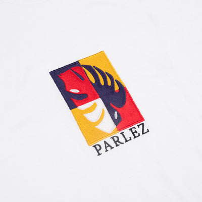 Parlez Oblique T-Shirt White/Navy