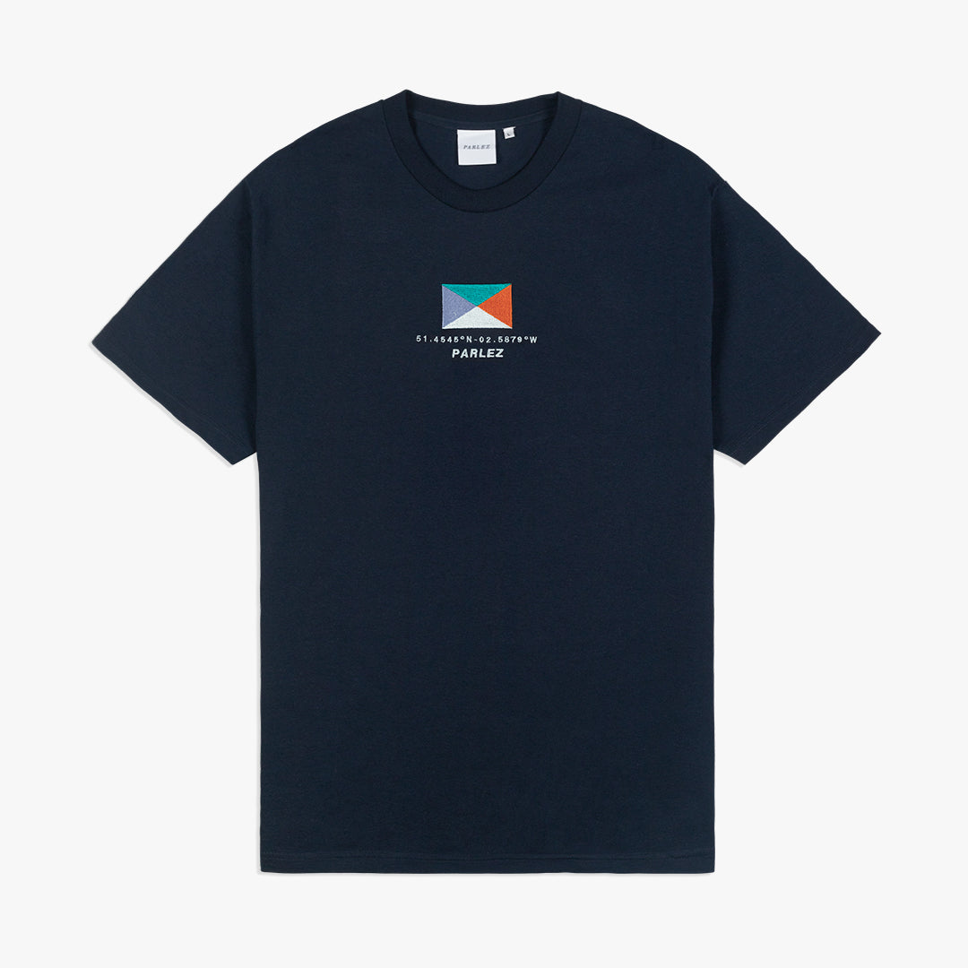 Powell Organic T-Shirt Navy