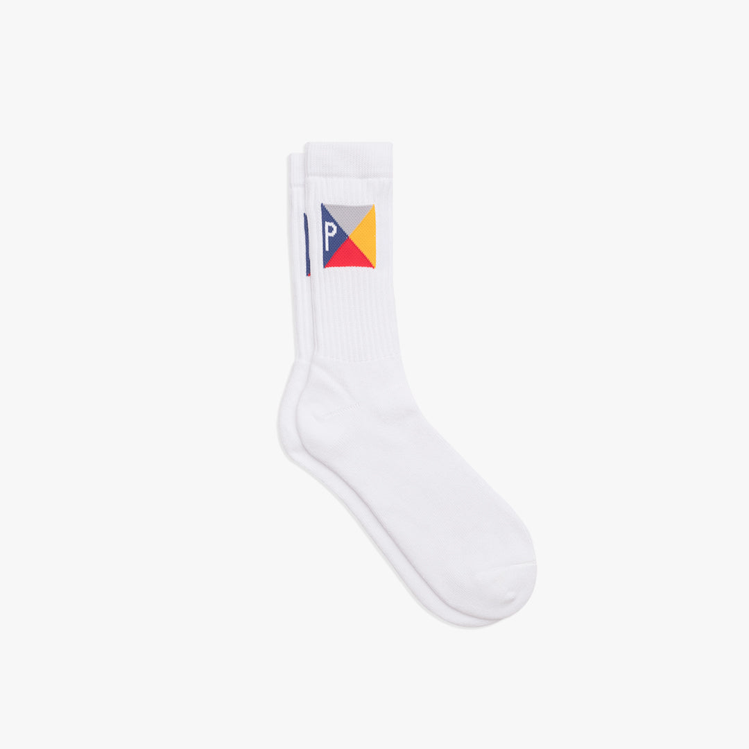 Pennant Socks Grey | Multi