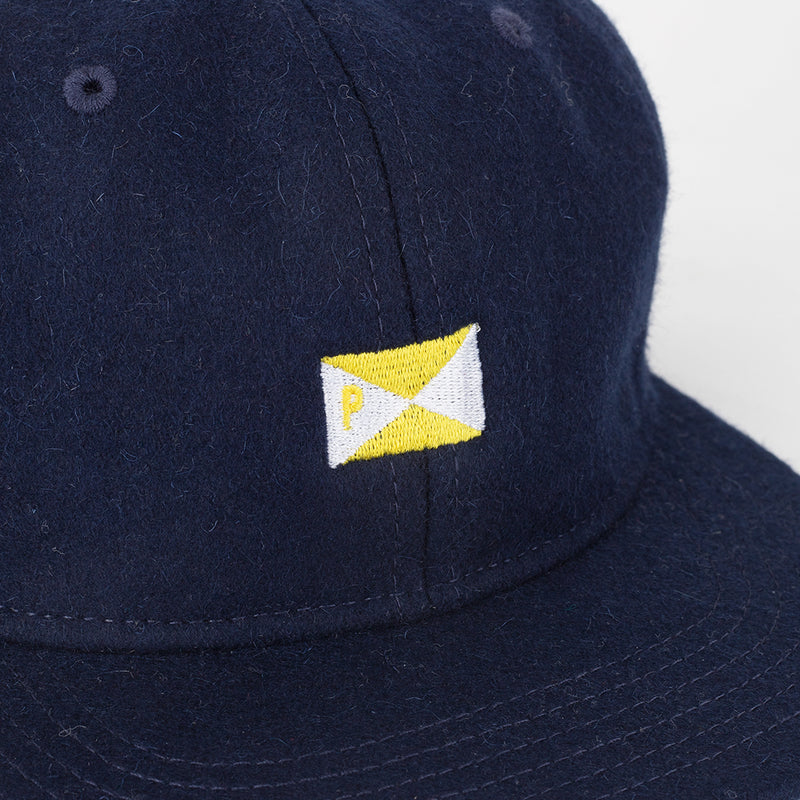 Pennant Wool 6 Panel Cap Navy